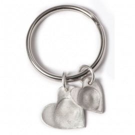 Double Keyring with One Small and One Standard Charm