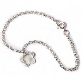 Fine Belcher Chain Charm Bracelet with Small Charms