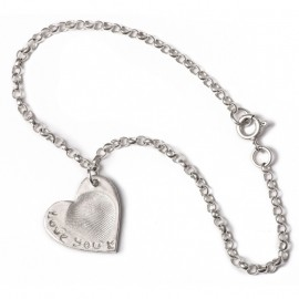 Fine Belcher Chain Charm Bracelet with Standard Charms