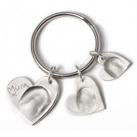 Triple Keyring with One Small, One Standard and One Medium Charm