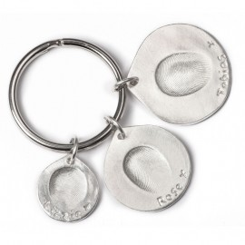 Triple Keyring with One Standard, One Medium and One Large Charm