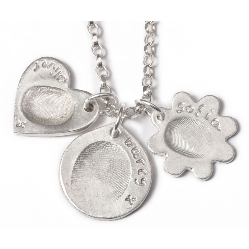 Triple Pendant with Three Standard Charms