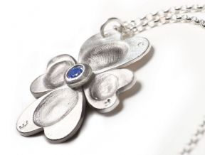 Four leaf clover silver fingerprint jewellery