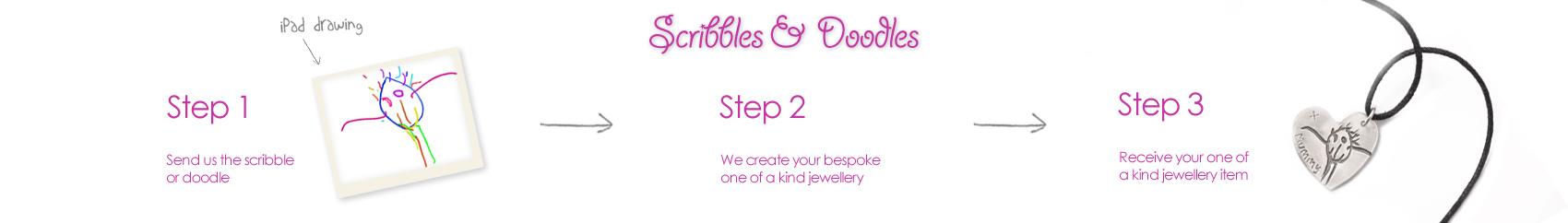 scribbles and doodles jewellery