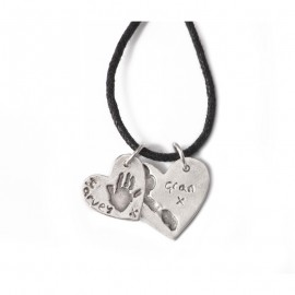 Double Dog Tag with Standard & Medium Charms