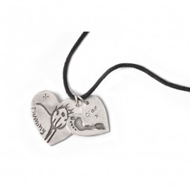 Double Dog Tag with Medium & Large Charms