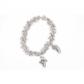 Multi-link Chain Charm Bracelet with Standard Charms