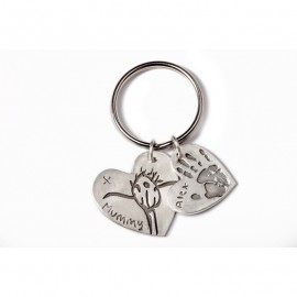 Double Keyring with One Medium and One Large Charm