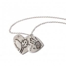 Double Pendant with One Medium and One Large Charm