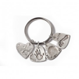 Quadruple Keyring with Four Standard Charms