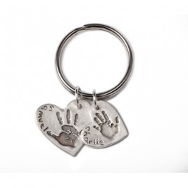 Double Keyring with One Standard and One Medium Charm