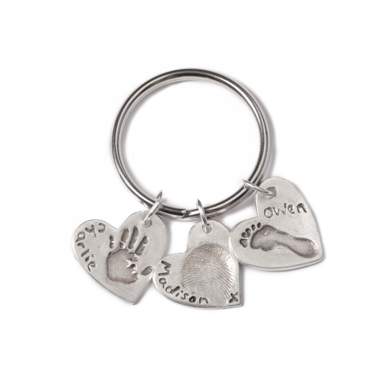 Triple Keyring with Three Standard Charms
